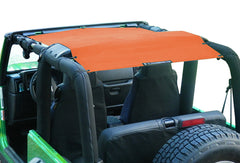 Alien Sunshade Jeep Wrangler TJFB Mesh Shade Top Cover Provides UV Protection for your TJ or YJ (87-06)