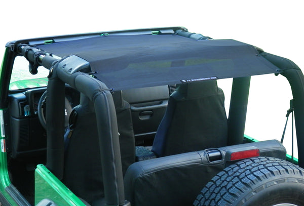 Alien Sunshade Jeep Wrangler TJFB Mesh Shade Top Cover Provides UV Protection for your TJ YJ (87-06)