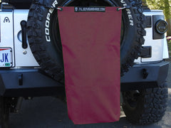 Alien Sunshade Jeep Wrangler TSC Mesh RubiSack TailGate Exterior Storage Bag for Trash or Trail Gear