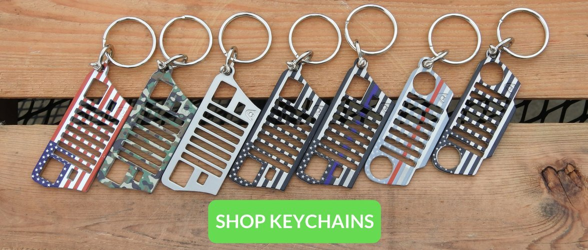 Jeep Grill Keychains 304 Stainless Steel