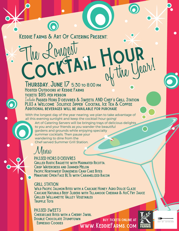 The Longest Cocktail Hour of the Year with Art of Catering