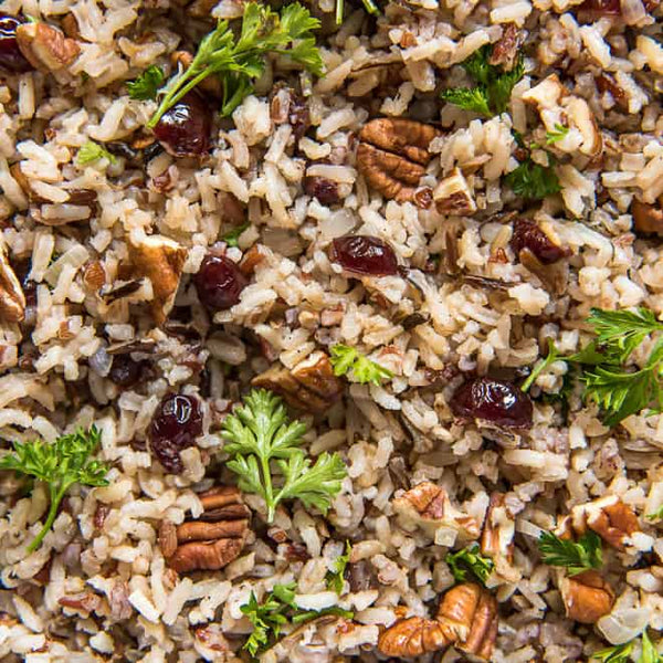 Multigrain Rice Pilaf with Toasted Pecans and Cranberries
