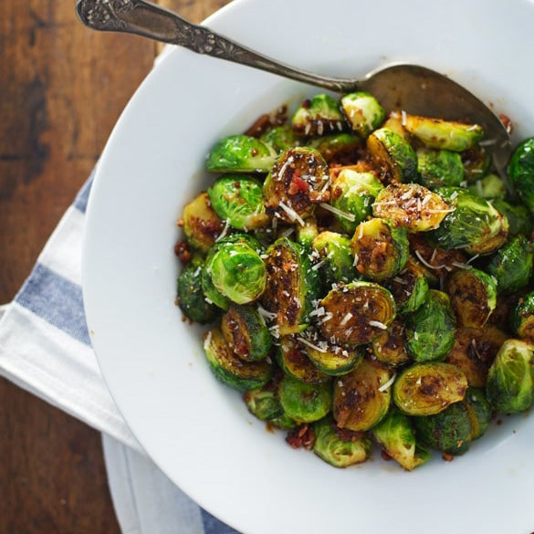 Maple and Orange Glazed Brussels Sprouts