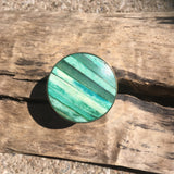 Bone inlay drawer knobs in green