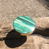 bone inlay drawer knobs turquoise green