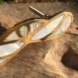 Mother of Pearl Drawer PUll in gold setting