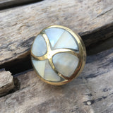 Mother of Pearl Drawer knob Hourglass - Pearl Drawer Knobs