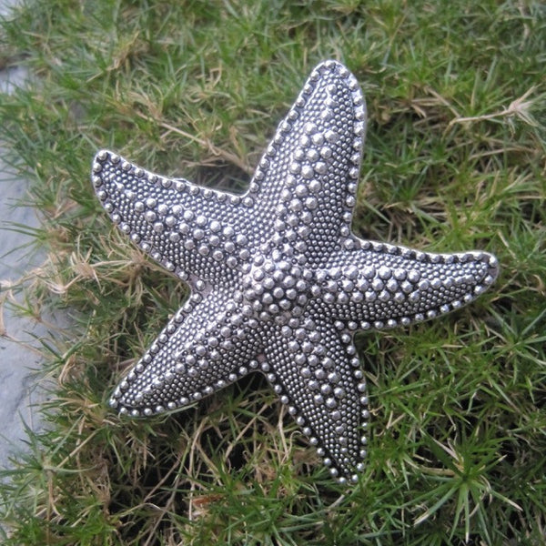 Starfish Knobs in Silver