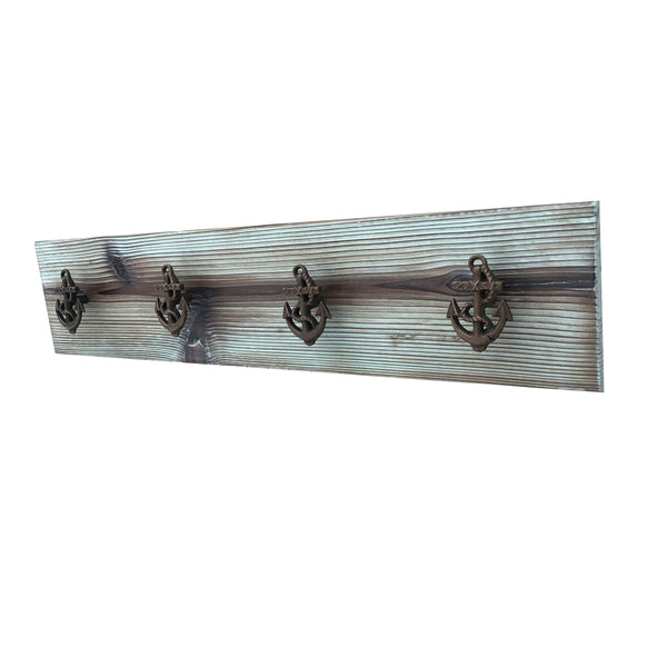 Board with Anchor Hooks Nautical Home decor