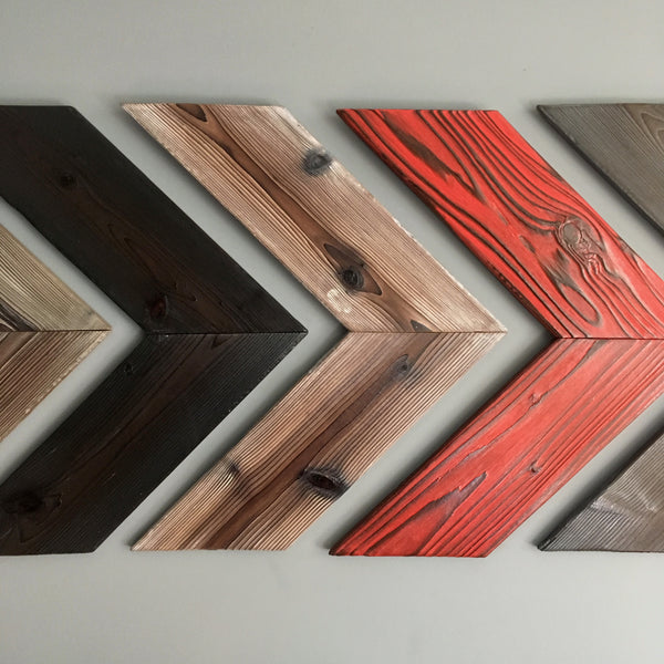 Wood Wall Art Chevron