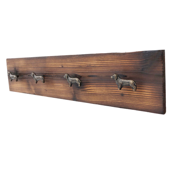 dachshund gift coat rack with knobs