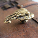 Elephant drawer knobs in brass