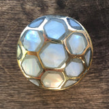 Mother of pearl drawer knobs - Pearl inlay cabinet knobs
