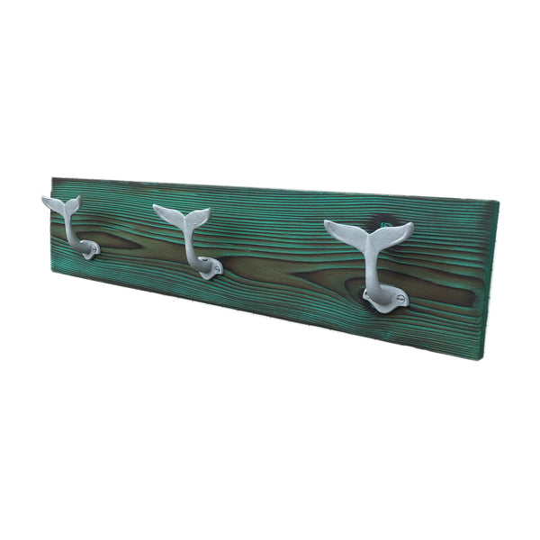 Towel Rack with Hooks Whale Tail