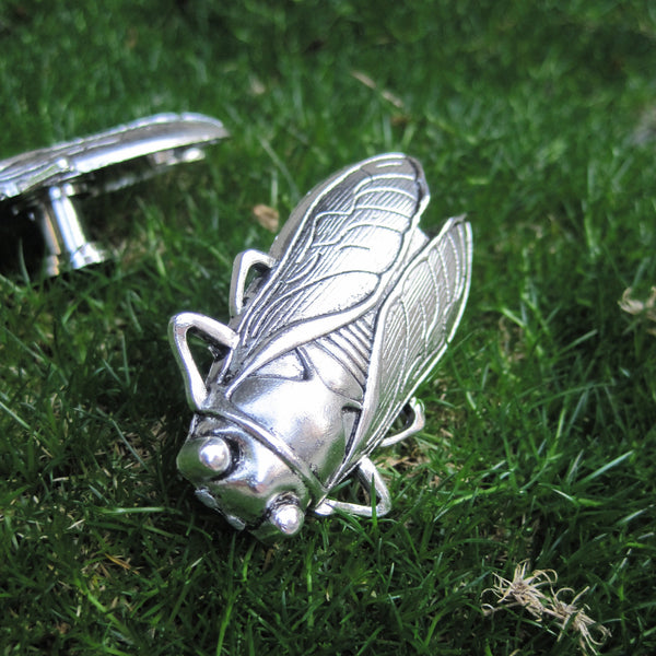 Cicada Drawer Knobs cabinet Knobs in silver