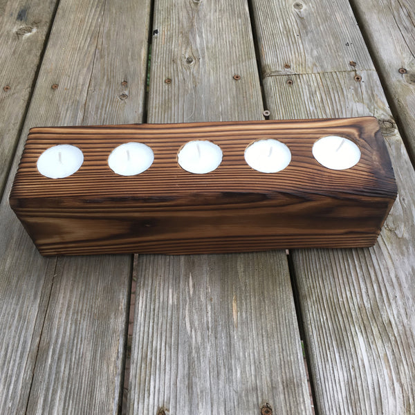 Wooden Candle Holder for Table