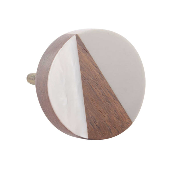 Modern Drawer Knobs made of wood with resin and pearl