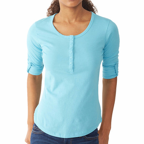 Rolled Henley Top
