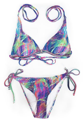 Neon Lights Adjustable Bikini Top