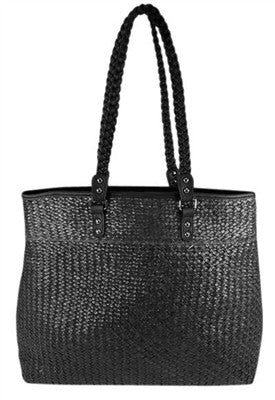 BLACK SEAGRASS BAG - LARGE