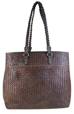 BROWN SEAGRASS BAG - LARGE