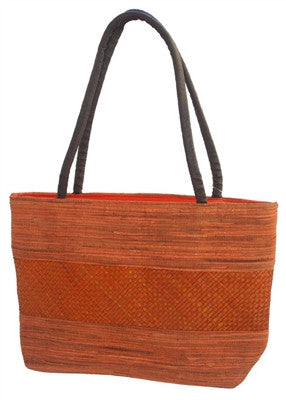CLEMENTINE PALM LEAF HANDBAG
