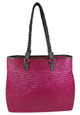 FUSIA SEAGRASS BAG - LARGE