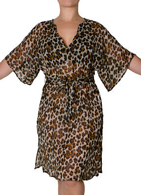 Leopard Tunic Cover Up