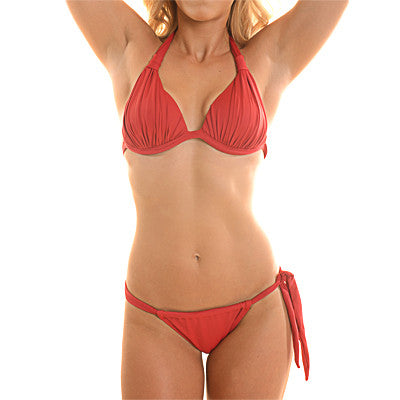 Ruby Red Bikini Top