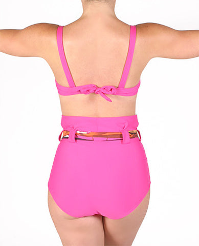 Calypso Pink Swim Bra Top