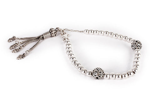 Silver rosary with Lock