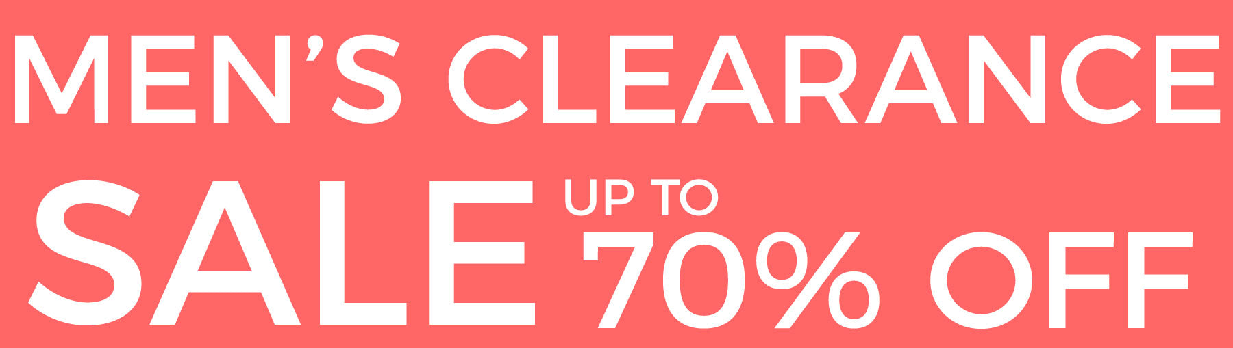 Men's Clearance Sale Up to 70% Off