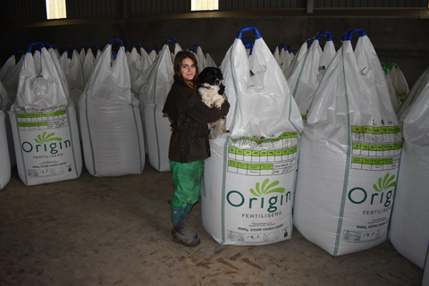 Fertiliser Emma Foot's farm