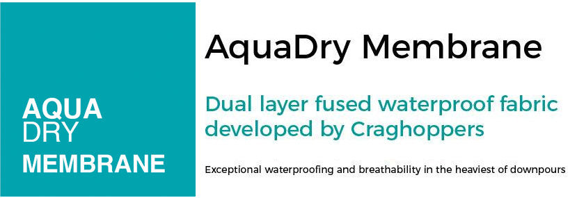 Craghoppers AquaDry Membrane waterproof windproof breathable laminated fabric