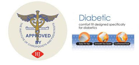 Diabetic Socks - Endorsed by the Institute of Chiropodists and Podiatrists