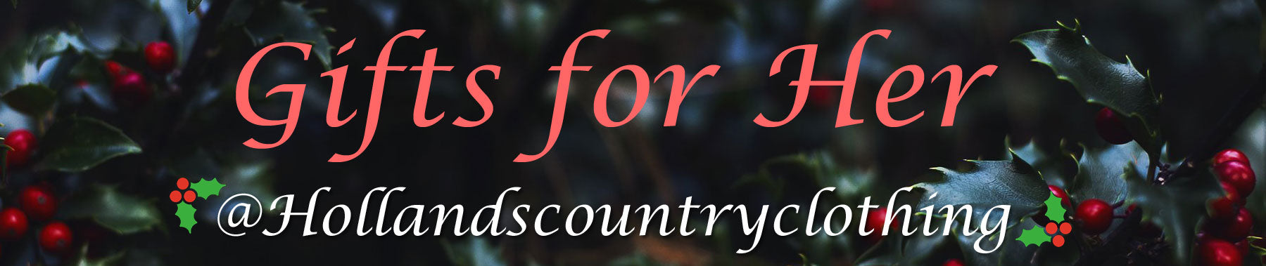 An eclectic collection of country clothing exclusively curated for hollands country clothing