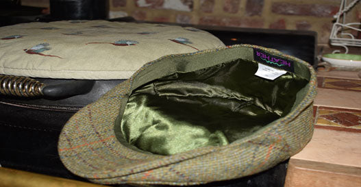 heather tweed cap