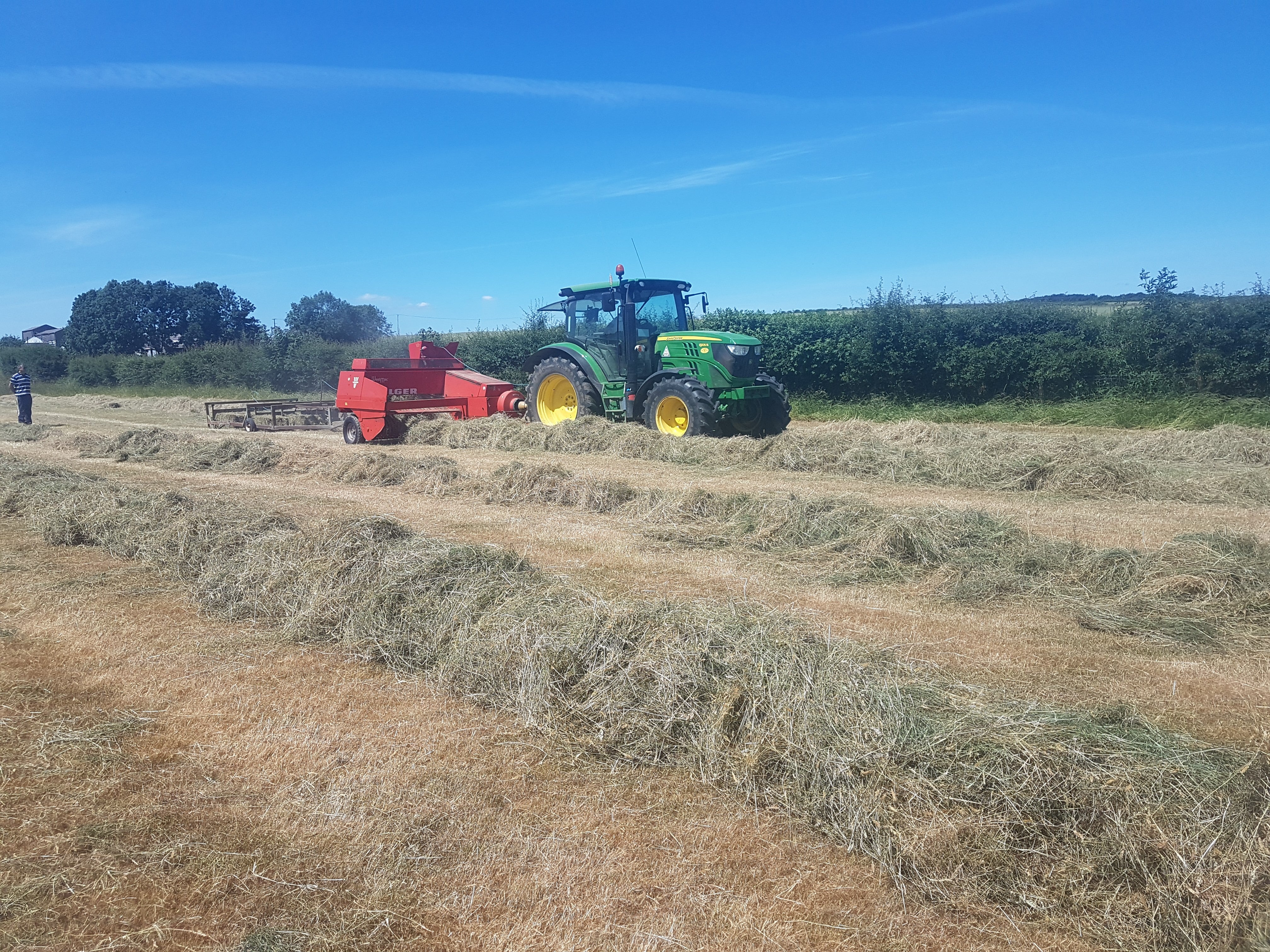 cropping silaging with a tractor