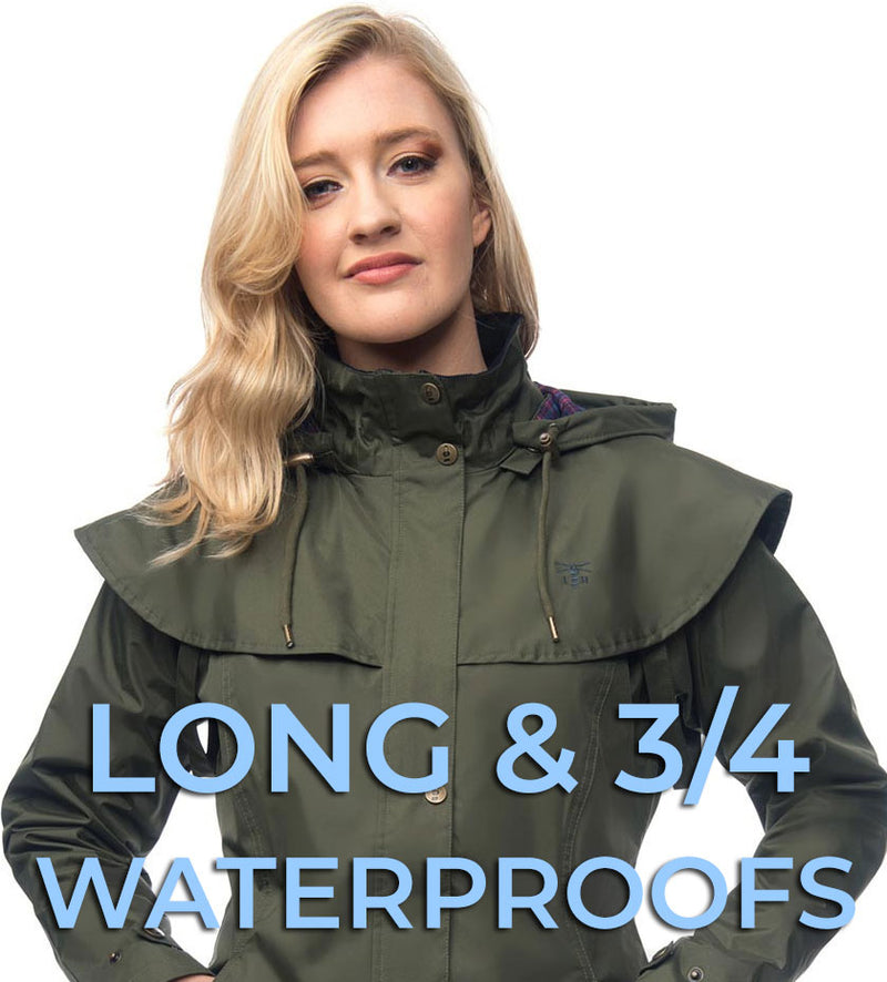 LADIES LONG AND THREE QUARTER LENGTH WATERPROOFS