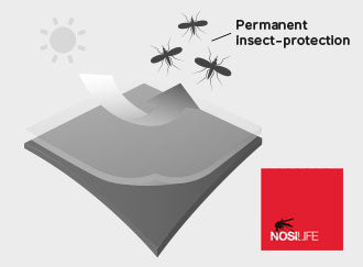 Nosilife insect repelling fabric with stretch built in