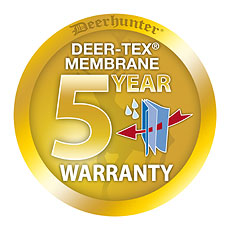 Deer tex waterproof breathable membrane is waterproof and has a five year guarantee