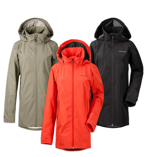Didriksons Noor 3 Waterproof Parka | Poppy Red, Mistal Green, Black