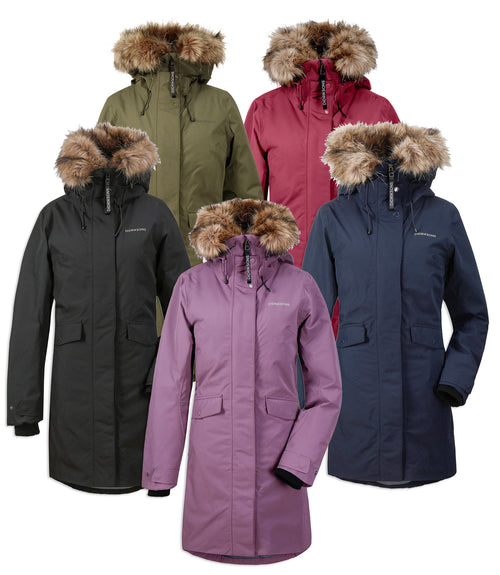 Didriksons Erika Padded Waterproof Parka | Black, Eggplant, Green, Navy, Wine Red