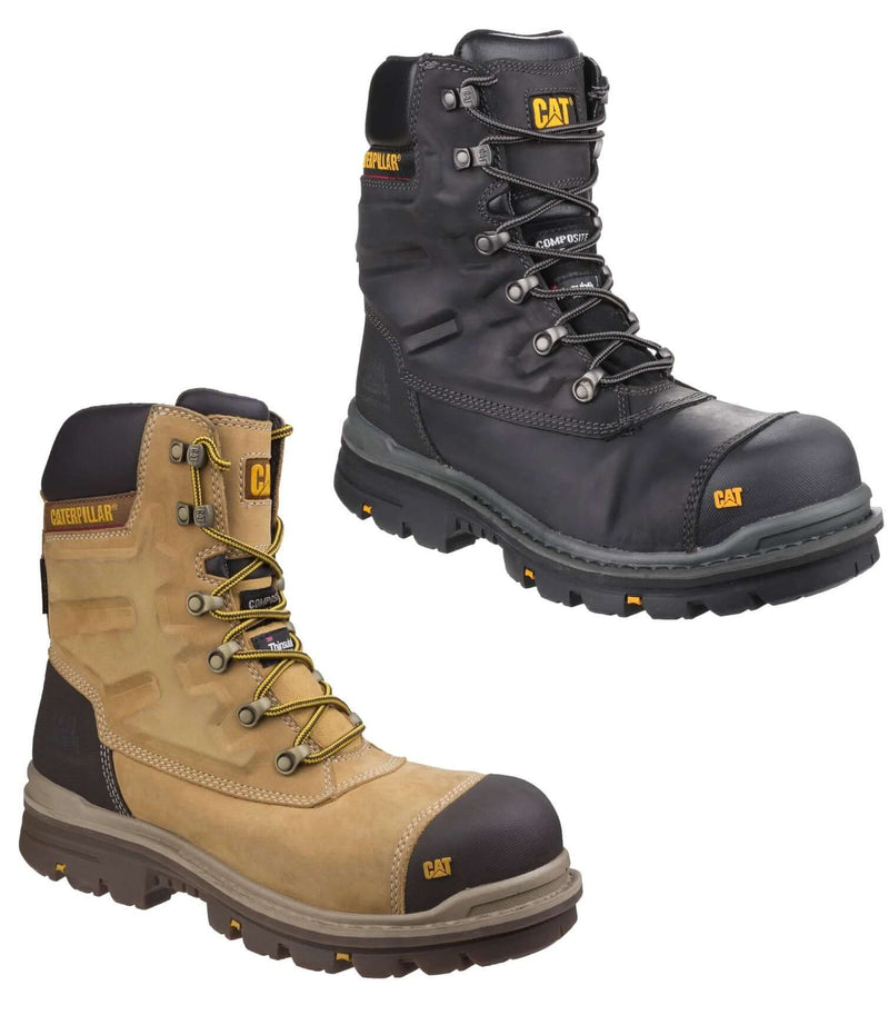 Caterpillar Premier Waterproof S3 Safety Boot | Black, Honey Gold