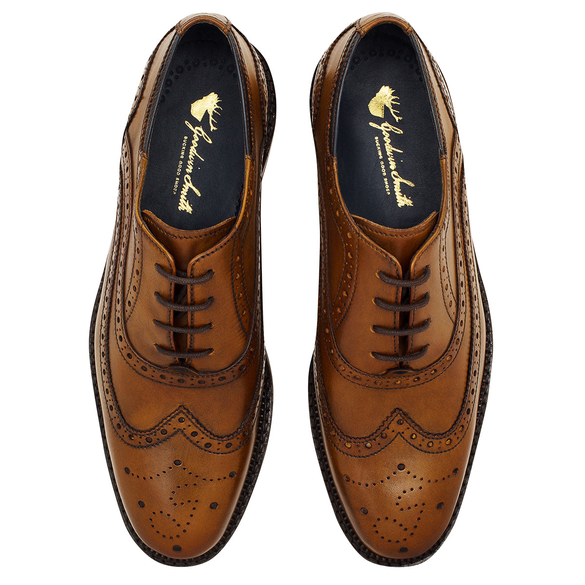 pair of Chatworth Tan Brogue Shoe by Goodwin Smith
