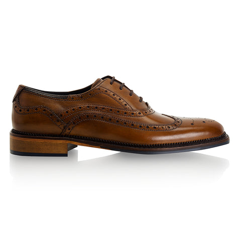 Chatworth Tan Brogue Shoe by Goodwin Smith