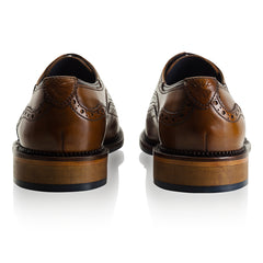 heels Chatworth Tan Brogue Shoe by Goodwin Smith