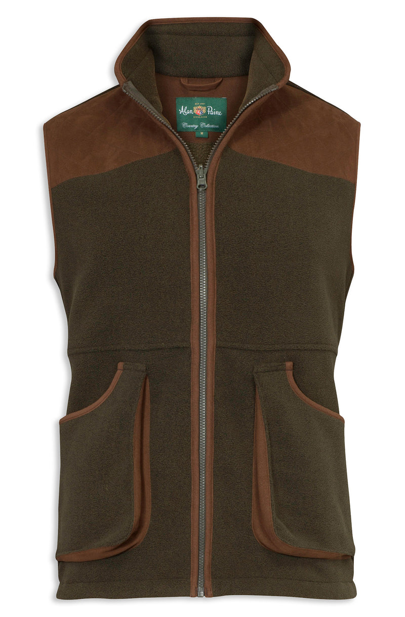 Alan Paine Aylsham Fleece Shooting Gilet Green