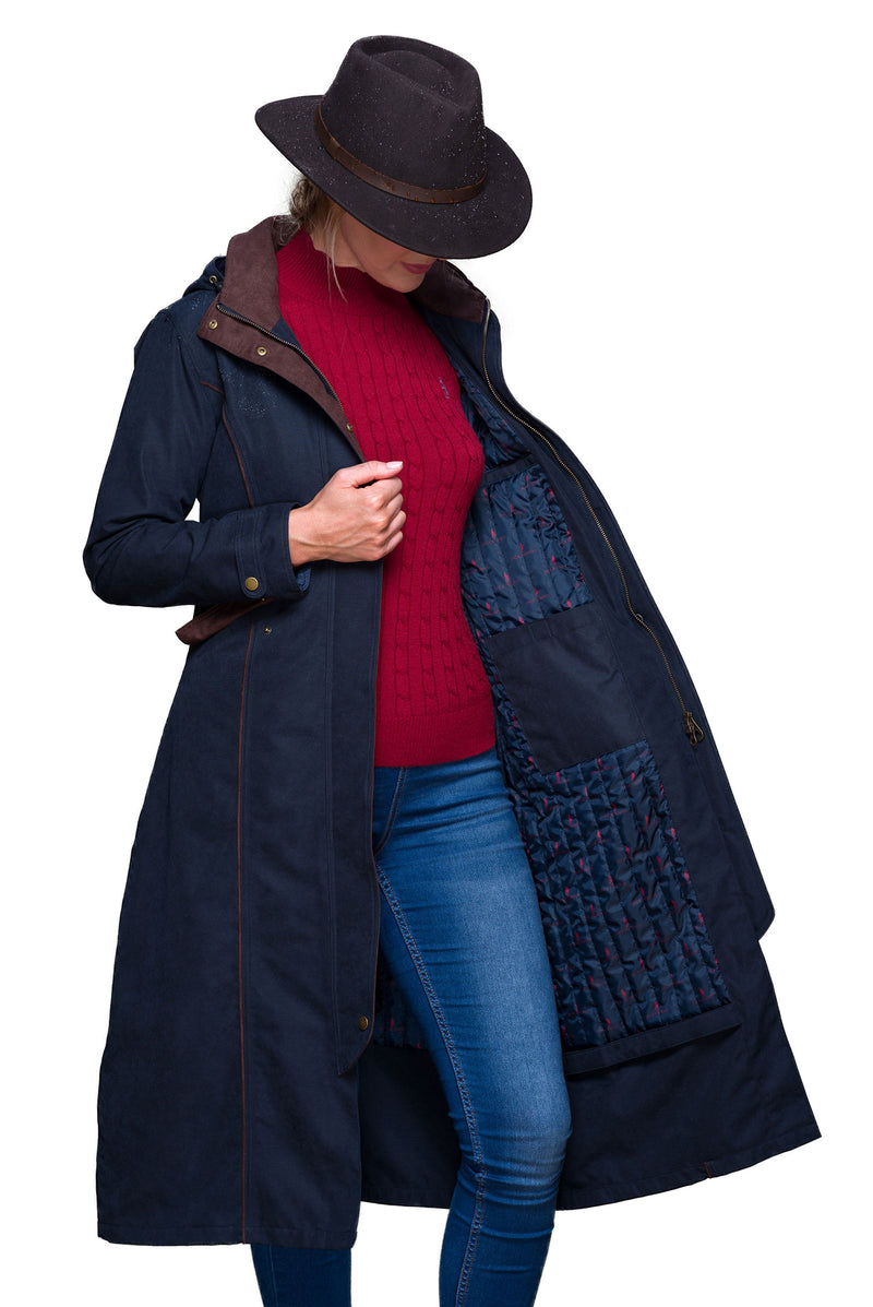 Navy Erin Waterproof Breathable Coat by Jack Murphy