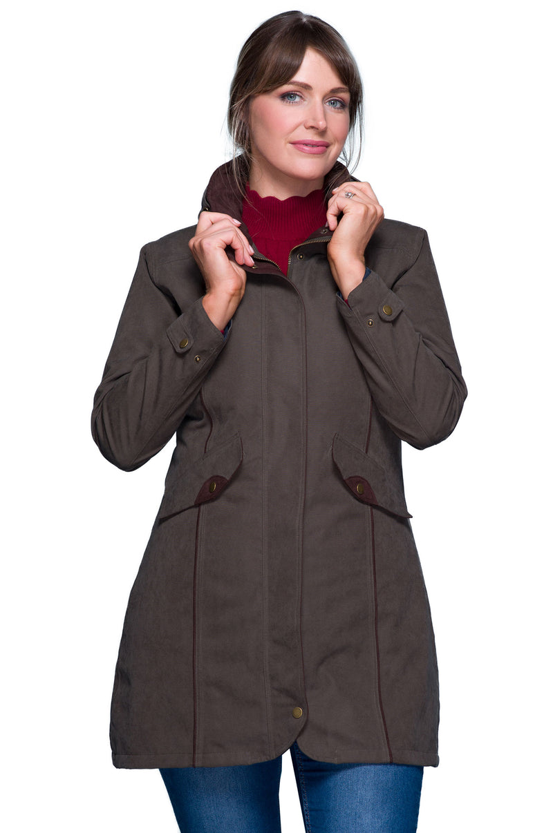 Una Three Quarter Length Waterproof Ladies country coat